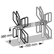 Fahrradständer QUADRO in Reihenaufstellung, zweiseitig, 2x3 - 2x11 Stellplätze