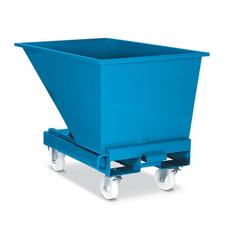 Fahrrollen für Kippcontainer automatisch