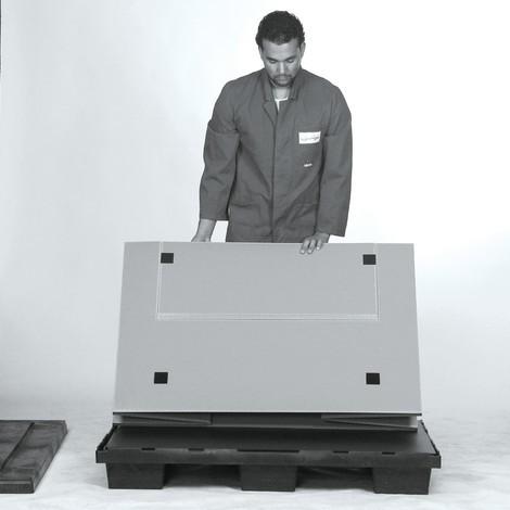 Faltbox aus Kunststoff mit Füßen