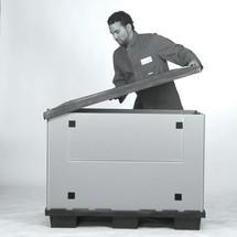 Faltbox aus Kunststoff mit Kufen