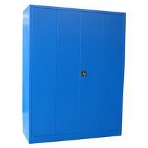 Falttürenschrank PAVOY mit 4 Fachböden, HxBxT 1.950 x 1.200 x 500 mm