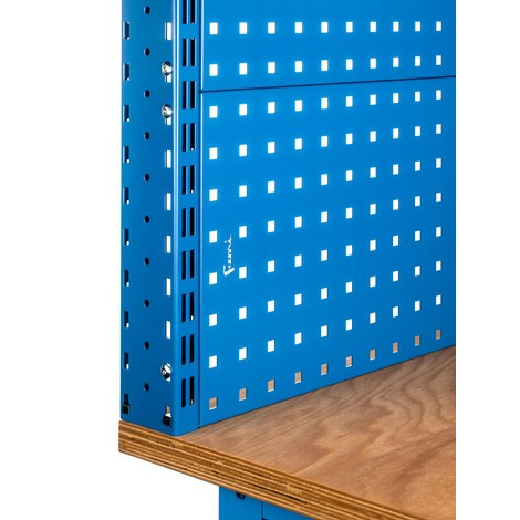 Fami Werkbank, höhenverstellbar, mit Multifunktionswand, Schubladen und Schrank
