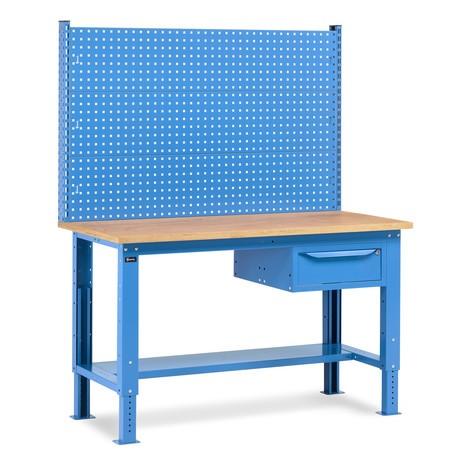 Fami Werkbank, höhenverstellbar, mit Multifunktionswand und Schubladensegment