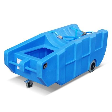 Fångstbassäng för 200 liters fat, PE, rörlig