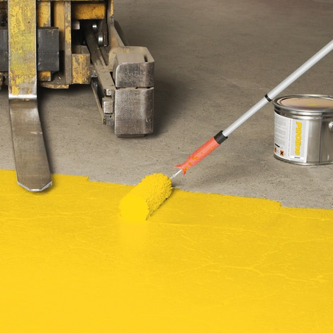 Farba do malowania hal PROline-paint, 5 l, do powierzchni silnie obciążonych, z jedwabistym połyskiem