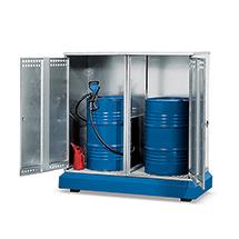Fass-Depot aus Stahl. Für 1-2 200 l Fässer
