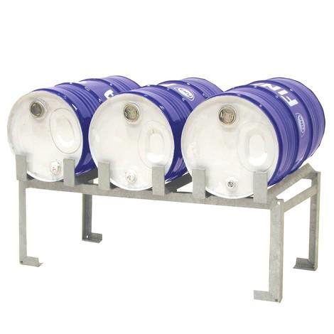 Fassauflage für 3 Fässer, mit Rollen