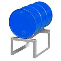 Fassbock mit Winkelauflage für Auffangwannen mit 60 oder 200 Liter
