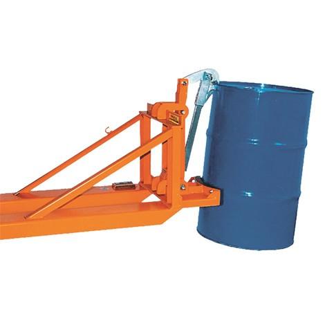 Fassgreifer, Stahl- und Kunststoff-L-Ringfässer