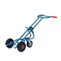 Fasskarre fetra® mit 1 Stützrad, Tragkraft 300 kg, Vollgummi- oder Luftreifen