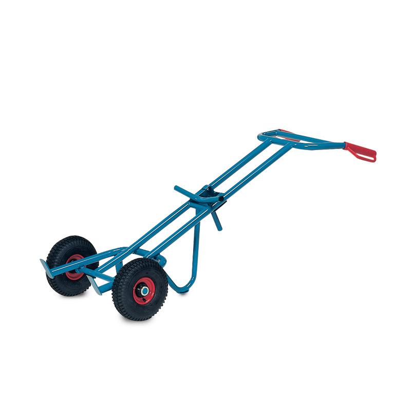 Fasskarre fetra® ohne Stützrad, Tragkraft 300 kg, Vollgummi- oder Luftreifen