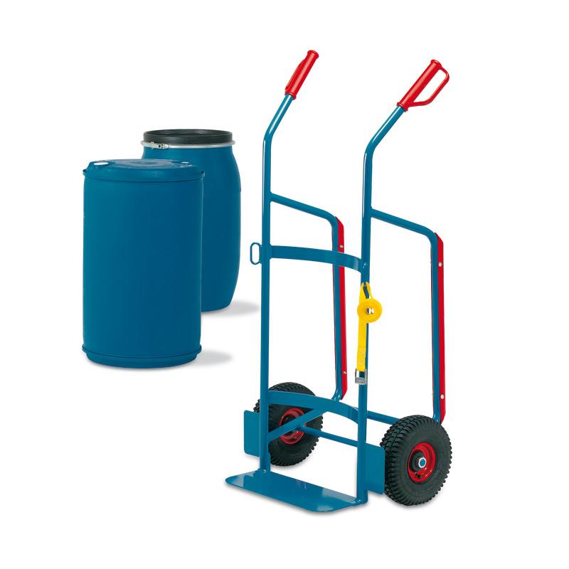 Fasskarre fetra®. Tragkraft 250kg, Vollgummi- oder Luftreifen