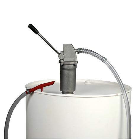 Fasspumpe mit Hebelzylinder und Antitropfmundstück. 0,4 Liter je Hub