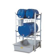 Fassregal CEMO für Gefahrstoffe, GFK-Auffangwanne