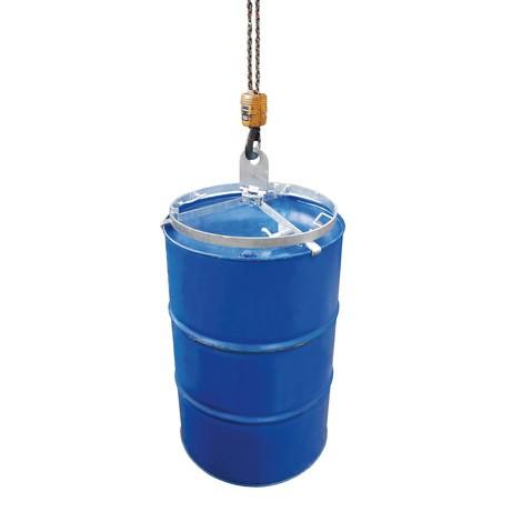Fasstraverse, wahlweise für stehende Stahl- oder Stahl- und Kunststofffässer