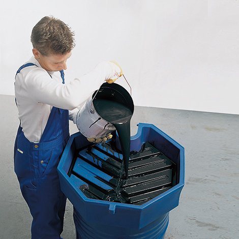 Fasstrichter für 200-Liter-Fässer aus PE