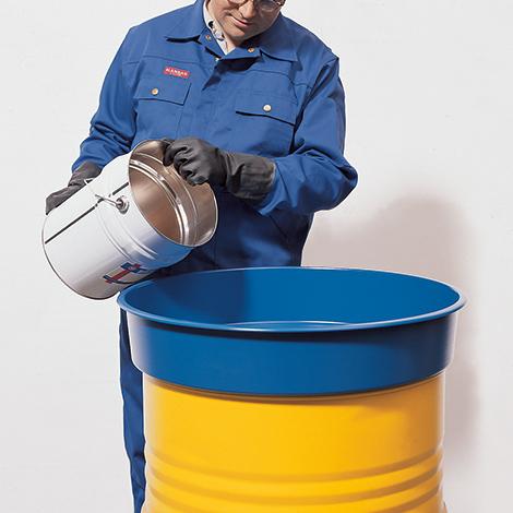 Fasstrichter für 200-Liter-Fässer aus Stahl