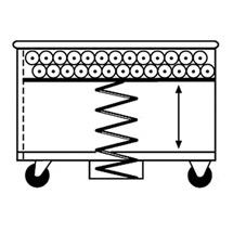 Federbodenwagen aus Aluminium, Volumen bis 615 Liter