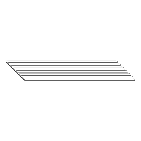 Feinriefenmatte. Breite 1196 mm, Tiefe 728 mm
