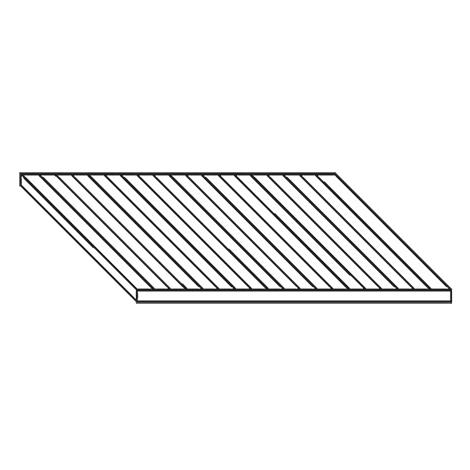 Feinriefenmatte. Breite 718 mm, Tiefe 728 mm