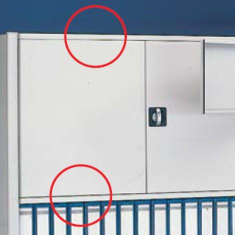 Ferrolho de porta para estanteria para pastas de arquivo META, unilateral, cinza-claro