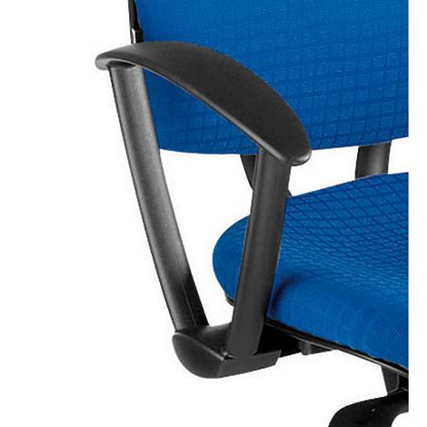 Feste Armlehnen für Bürodrehstuhl mit Orthositz®, schwarz