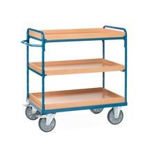 fetra® carrello a ripiani con scatole stoccaggio