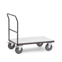 fetra® ESD plateauwagen, met houten laadruimte
