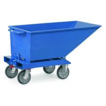 fetra® Muldenkipper mit Rollen, Blau