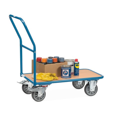 fetra® platform trolley with wooden load surface