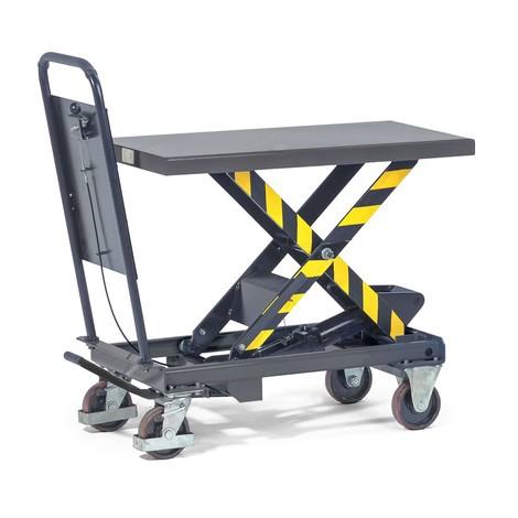 fetra® Scheren-Hubtischwagen mit Durchrutschsicherung
