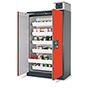 Feuerbeständiger Industriegefahrstoffschrank Q-PEGASUS/Typ 90, 2Türen, 4Schübe