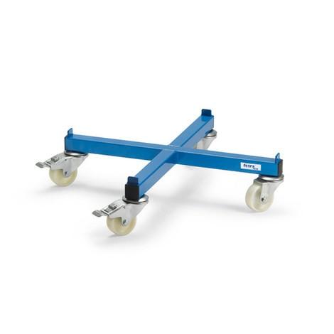 Ffetra® tøndevalse, tværform, belastningskapacitet 250 kg