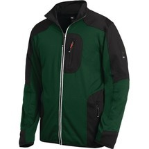 FHB® Jersey-Fleecejacke RALF, grün/schwarz