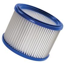 Filterelement für Grobschmutzsauger, auswaschbar.