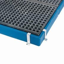Fissaggio bordo per vassoio di raccolta piatto asecos® in PE