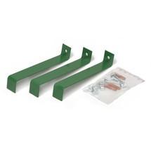 Fixação ao piso para caixote de reciclagem VAR®, 120 litros, porta oscilante dupla
