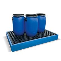 Flach-Bodenwannen aus Polyethylen. Auffangvolumen bis 300 l