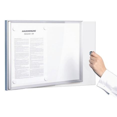 Flach-Schaukasten mit rahmenloser Glastür
