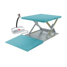 Flach-Scheren-Hubtisch Ameise®, geschlossen, TK 1.000 kg, Plattform à 1.450 x 1.140 mm, B-Ware