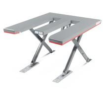 Fladt sakseløftebord FLEXLIFT, E-formet