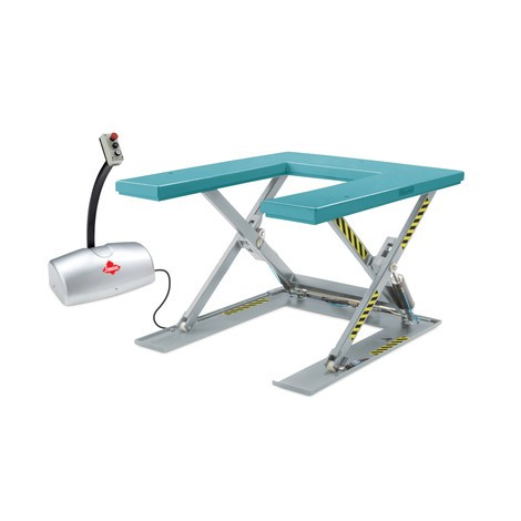 Flat scissor lift table, U-shaped, Ameise®