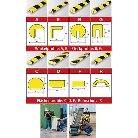Flexibler Warn- und Prallschutz