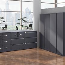 Flügeltür-/Schubladenschrank-Kombination BISLEY Essentials, 2 Türen à H 267 & 2 Schubladen à H 304 mm, 4 Farben zur Auswahl