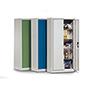 Flügeltürschrank, 4 verzinkte Böden, 195x70x40 cm, Farbwahl
