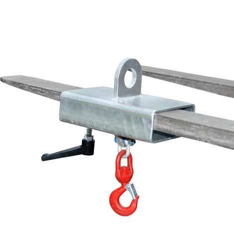 Förzinkad lastkrok för gaffeltruck och kran