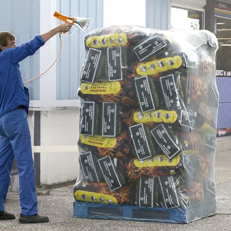 Folienschrumpfgerät. Komplettpaket im Koffer