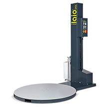 Folienstretchmaschine laio® DISC EM 150, für Palettenmaße max.  LxB 1200x800 mm