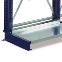 Fond de socle pour rayonnage Cantilever META, capacité de charge 500 kg