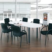 Forma oval de mesa de conferência